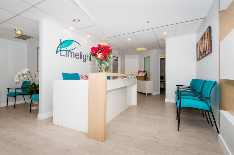 Reception of Limelight Laser Hair Removal Clinic in Yaletown (Vancouver's Downtown Core)