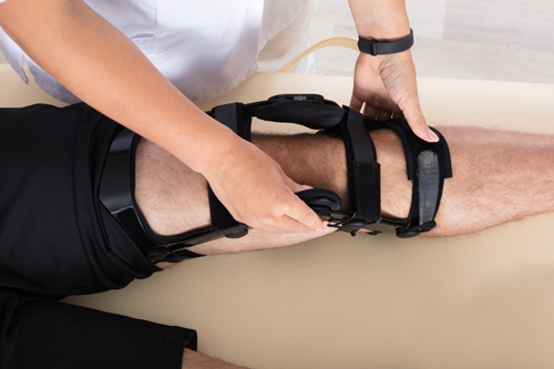 Woman's rehabilitation at Limelight Physiotherapy Clinic in Yaletown (Vancouver's Downtown Core)